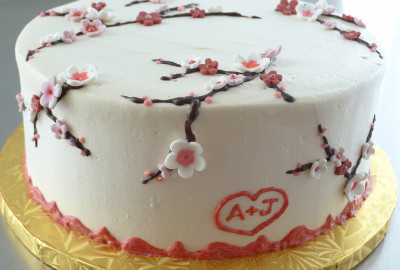 Cherry Blossom Engagement Cake