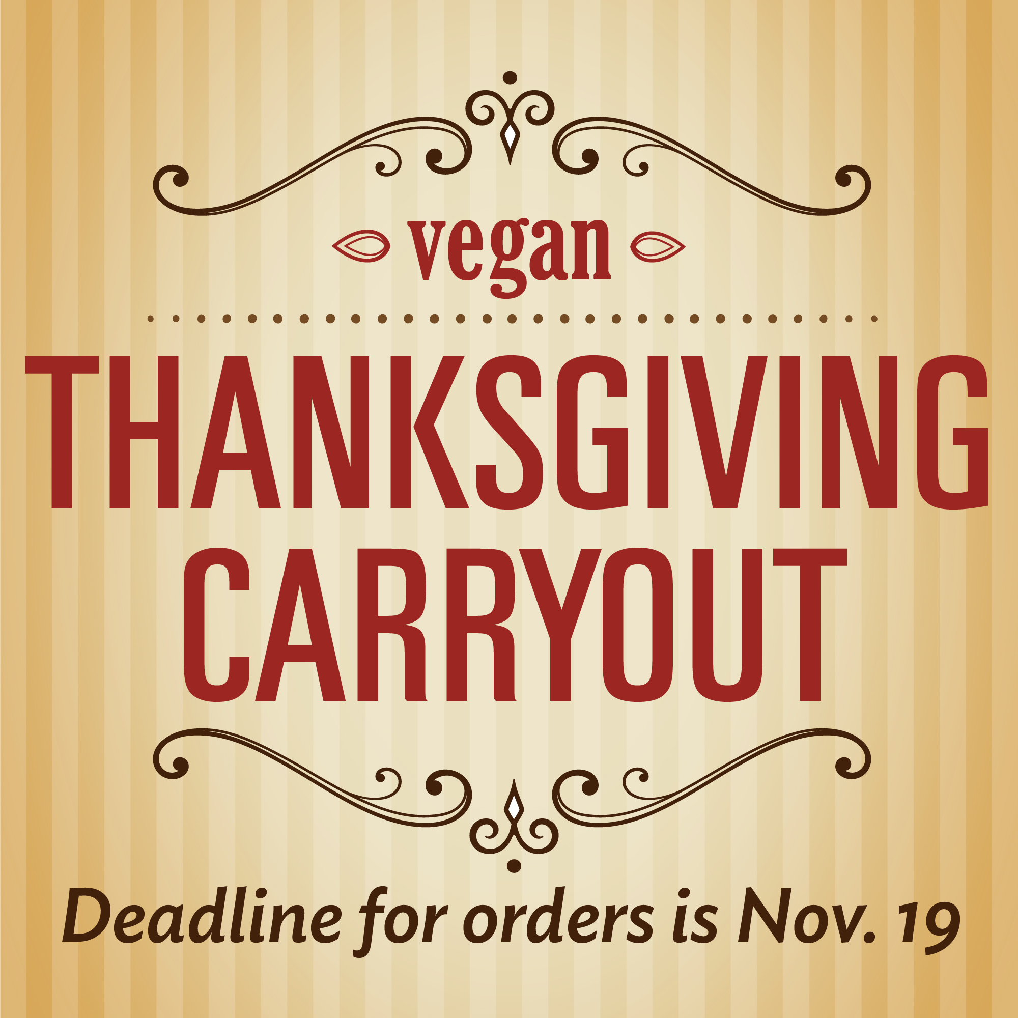 Thanksgiving Carryout Deadline is Nov. 19
