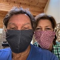 Mickey and Jo have their masks at the ready